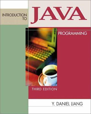 Introduction to Java Programming (3rd Edition)