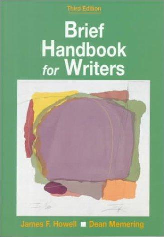 Brief handbook for writers