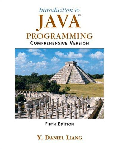 Introduction to Java Programming, Comprehensive (5th Edition)