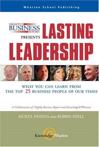 Download Nightly Business Report Presents Lasting Leadership
