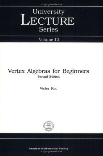 Download Vertex algebras for beginners