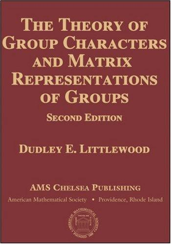 Download The theory of group characters and matrix representations of groups