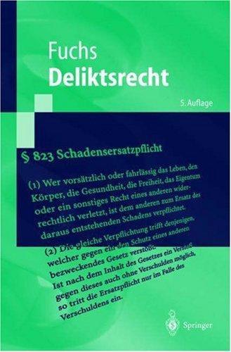 Deliktsrecht (Springer-Lehrbuch)