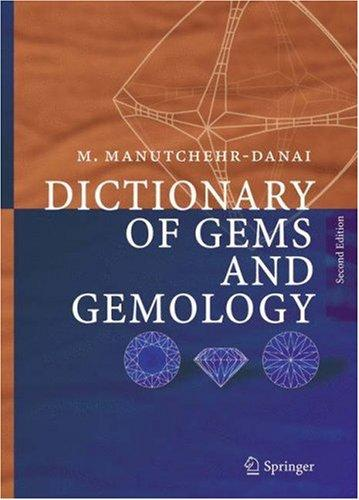 Download Dictionary of Gems and Gemology