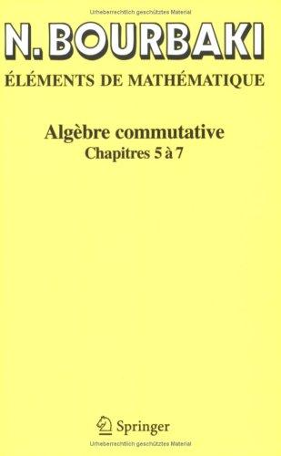 Download Algèbre commutative