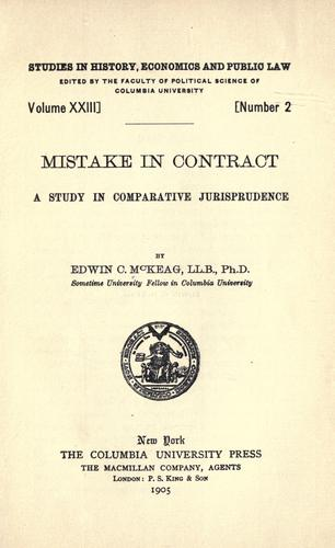 Mistake in contract