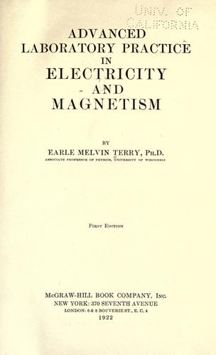 Download Advanced laboratory practice in electricity and magnetism