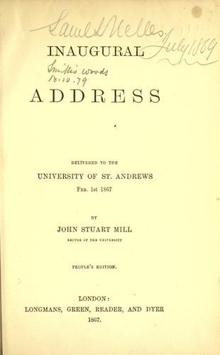 Download Inaugural address