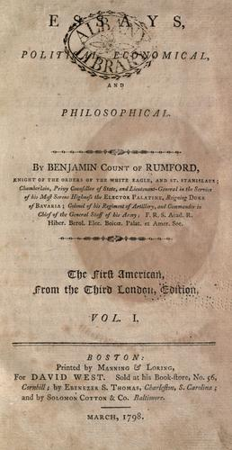 Download Essays, political, economical, and philosophical.