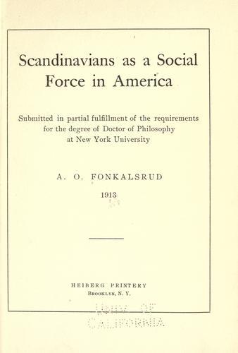 Download Scandinavians as a social force in America …