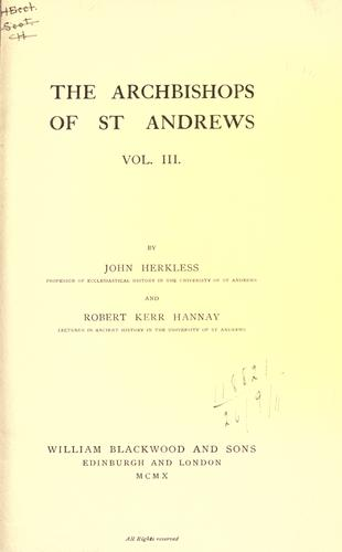 Download The archbishops of St. Andrews