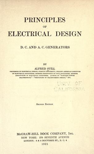 Principles of electrical design