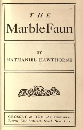 Download The marble faun