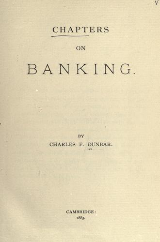 Download Chapters on banking