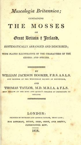 Download Muscologia britannica