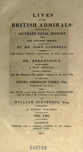 Download Lives of the British admirals