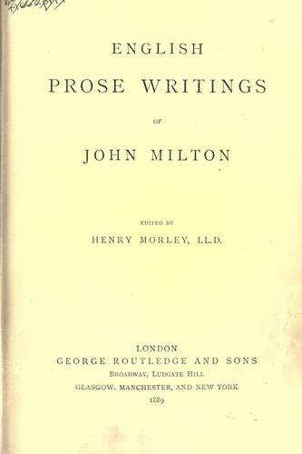 English prose writings