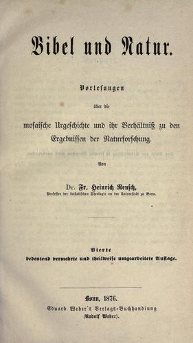 Download Bibel und Natur