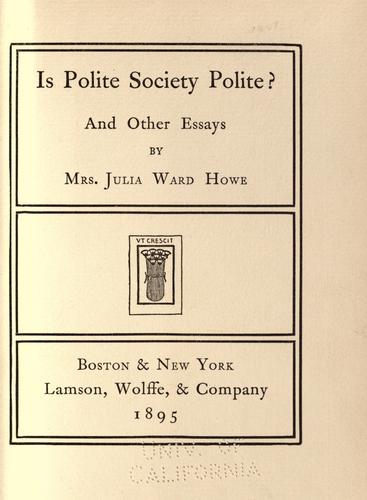 Is polite society polite?