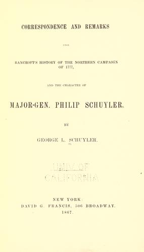 Download Correspondence and remarks upon Bancroft's history of the northern campaign of 1777