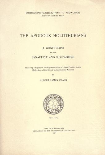 The apodous holothurians