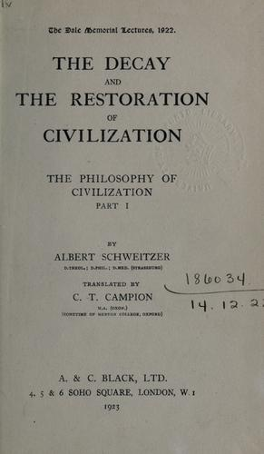 Download The decay and the restoration of civilization …