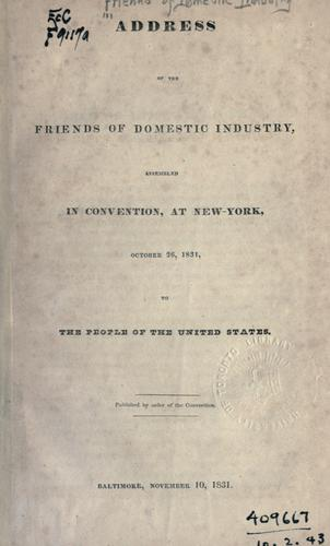 Address of the Friends of domestic industry