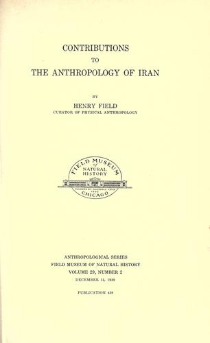 Download Contributions to the anthropology of Iran