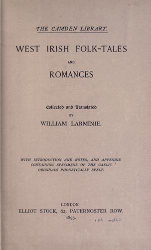 Download West Irish folk-tales and romances