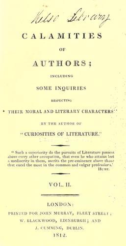 Calamities of authors
