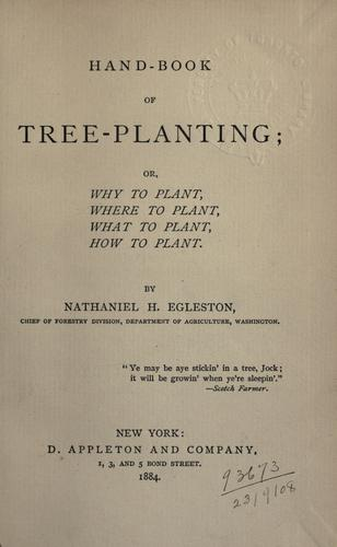 Hand-book of tree-planting