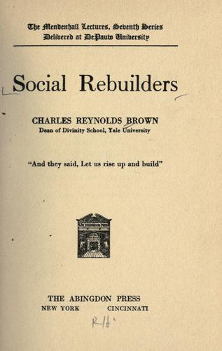 Download Social rebuilders