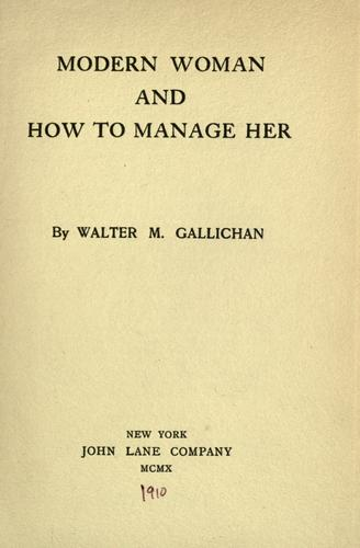 Modern woman and how to manage her