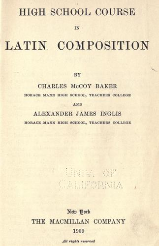 Download High school course in Latin composition