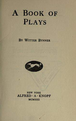 A book of plays