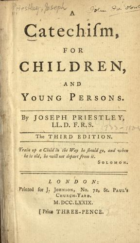 Download A catechism for children and young persons.