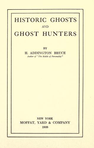 Download Historic ghosts and ghost hunters