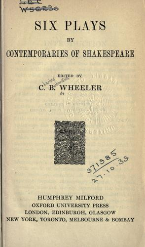 Download Six plays by contemporaries of Shakespeare