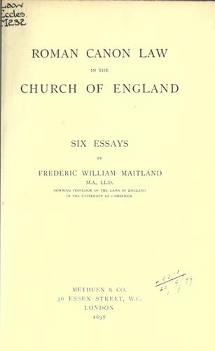 Download Roman canon law in the Church of England