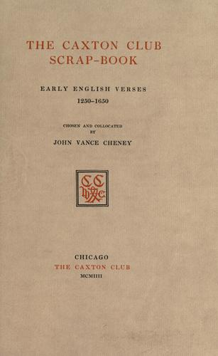 The Caxton club scrap-book