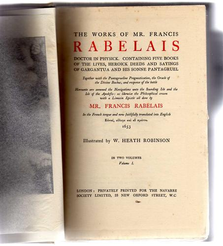 The works of Mr. Francis Rabelais, doctor in physick