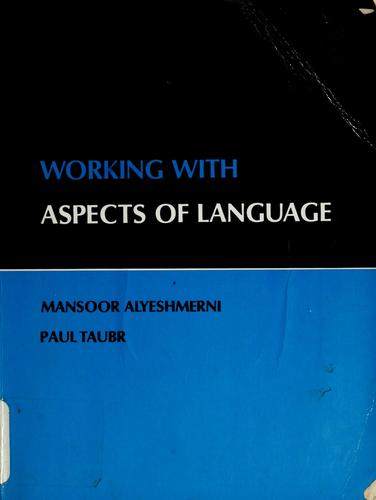 Download Working with aspects of language