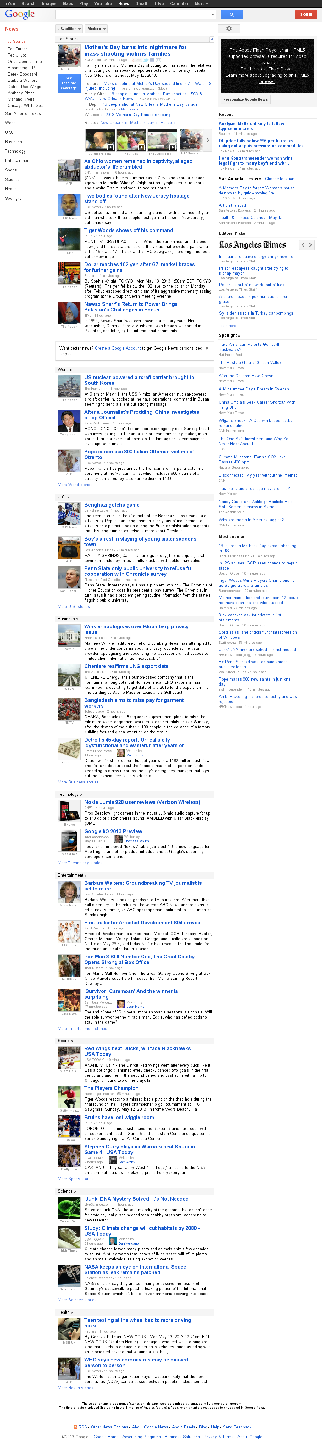 Google News at Monday May 13, 2013, 6:08 a.m. UTC