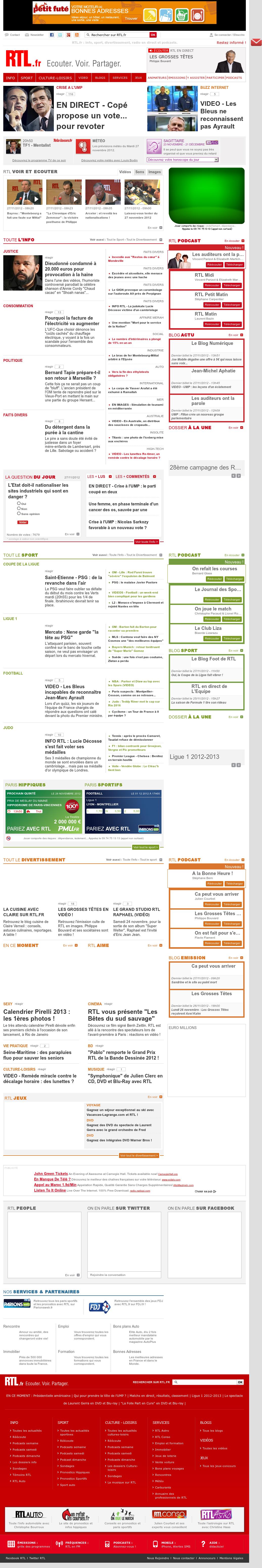 RTL at Tuesday Nov. 27, 2012, 3:24 p.m. UTC