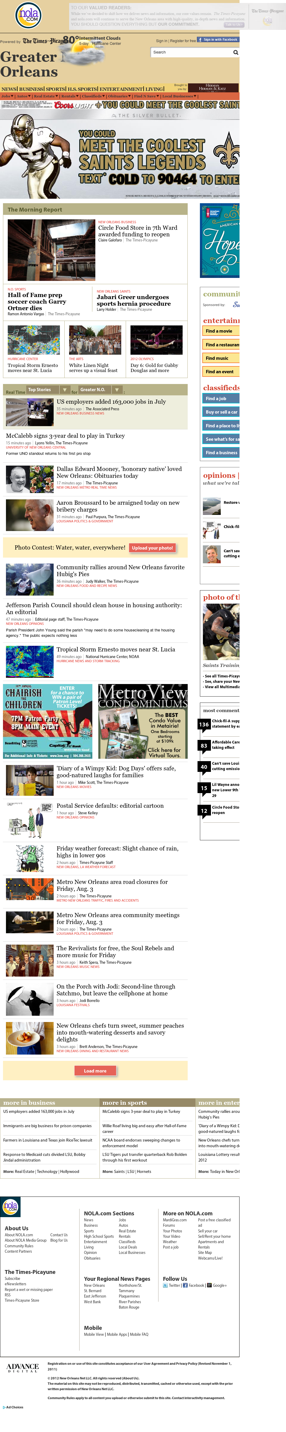NOLA.com at Friday Aug. 3, 2012, 1:18 p.m. UTC