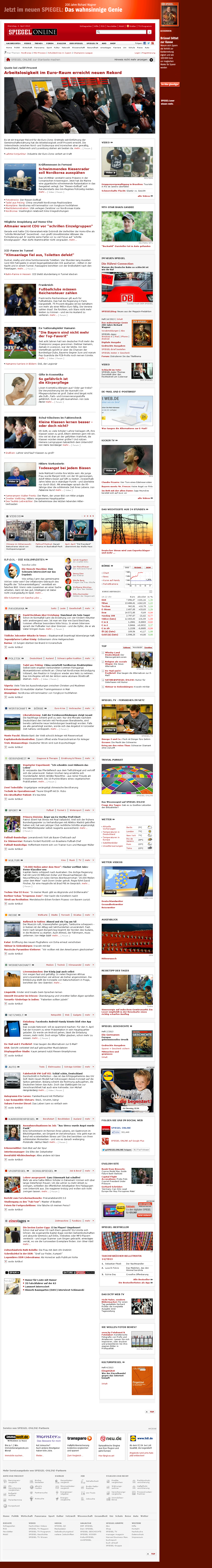 Spiegel Online at Tuesday April 2, 2013, 12:23 p.m. UTC