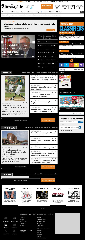 The (Cedar Rapids) Gazette at Sunday July 16, 2017, 6:07 a.m. UTC