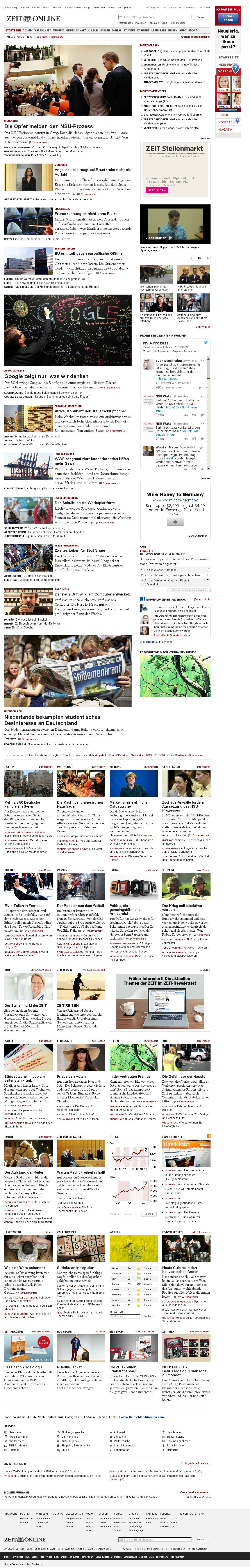 Zeit Online at Wednesday May 15, 2013, 3:26 a.m. UTC