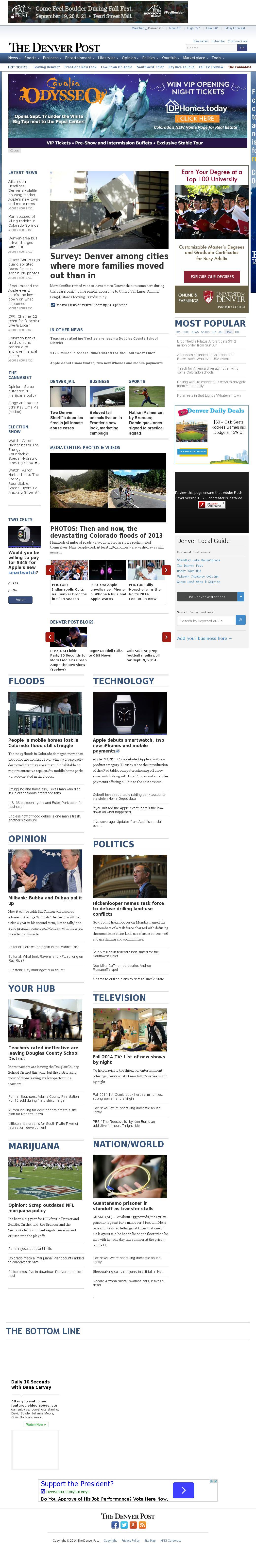 Denver Post at Tuesday Sept. 9, 2014, 11:04 p.m. UTC