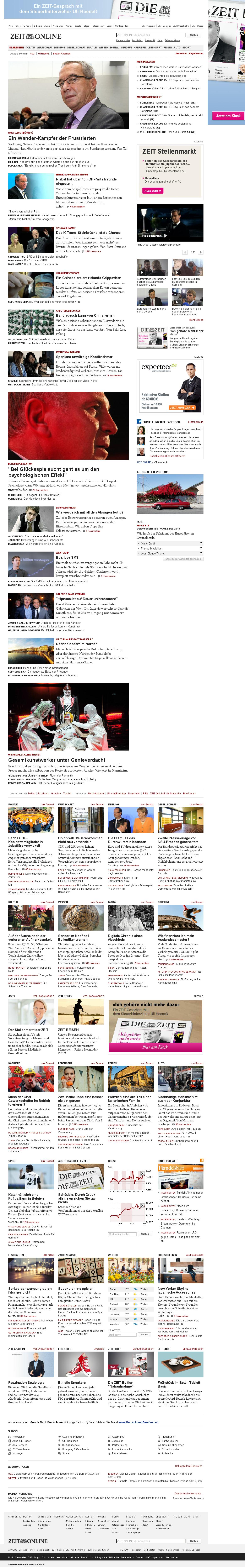 Zeit Online at Thursday May 2, 2013, 6:33 p.m. UTC